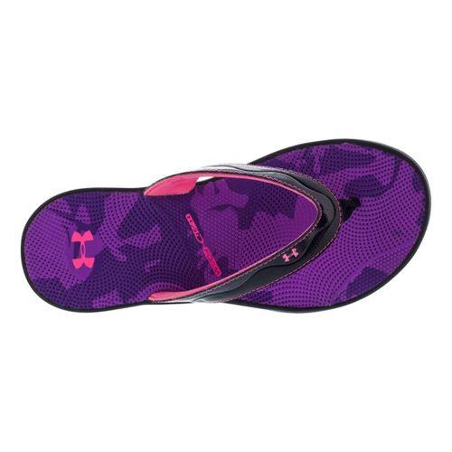 Womens Under Armour Marbella Sport VT Sandals Shoe - Black/Purple 11
