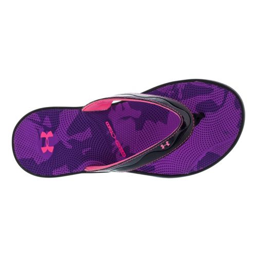 Womens Under Armour Marbella Sport VT Sandals Shoe - Black/Purple 7