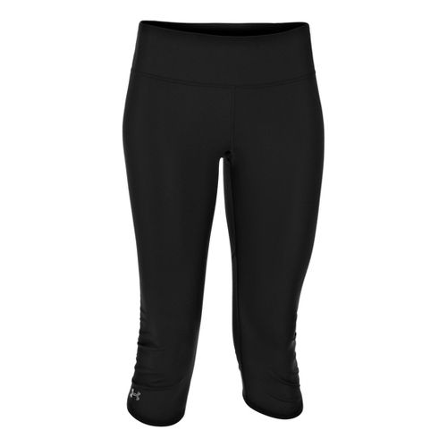 Womens Under Armour Armourvent Capri Tights - Black/Black XL