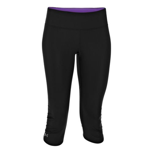 Womens Under Armour Armourvent Capri Tights - Black/Pride XS