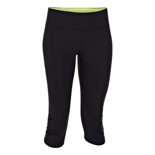 Womens Under Armour Armourvent Capri Tights - Black/X-Ray S