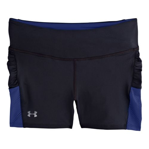Womens Under Armour Armourvent Shorty Fitted Shorts - Black/Caspian M
