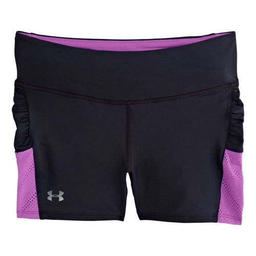 Womens Under Armour Armourvent Shorty Fitted Shorts - Black/Exotic Bloom S