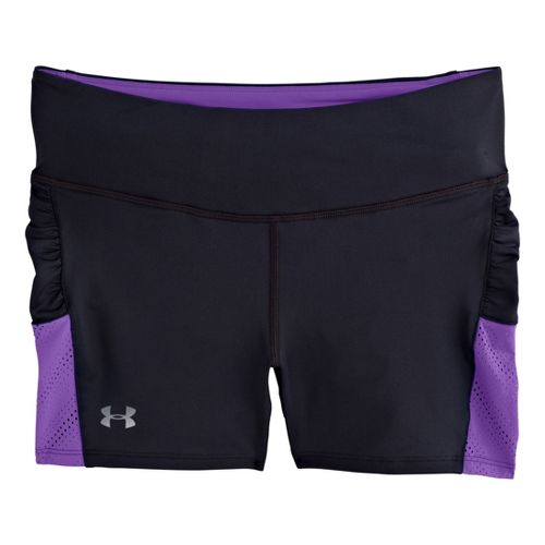 Womens Under Armour Armourvent Shorty Fitted Shorts - Black/Pride XL