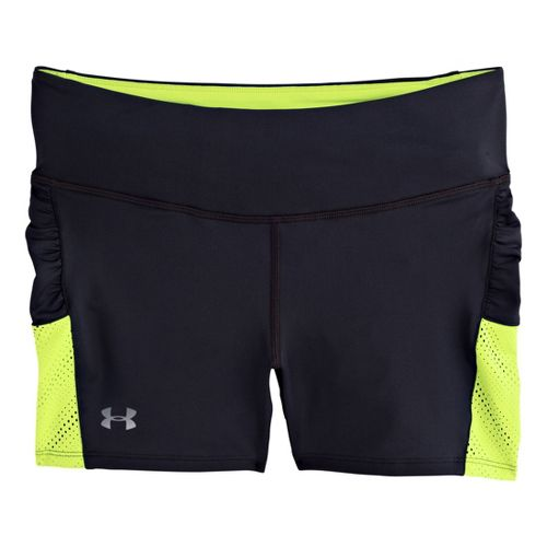 Womens Under Armour Armourvent Shorty Fitted Shorts - Black/X-Ray L