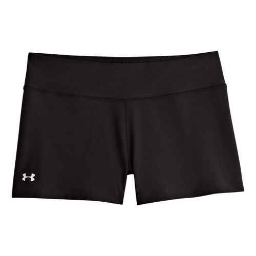 Womens Under Armour Heatgear Sonic Shorty Fitted Shorts - Black/Black S