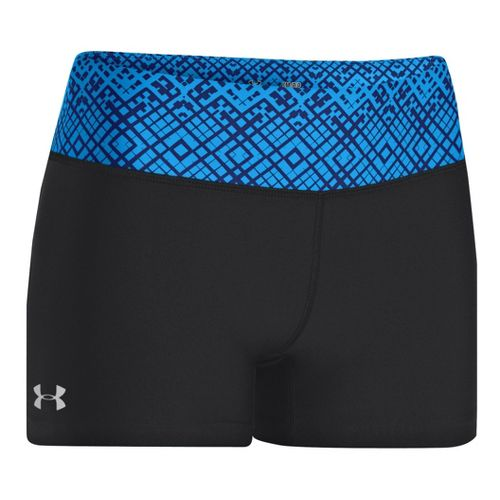 Womens Under Armour Heatgear Sonic Shorty Fitted Shorts - Black/Electric Blue M