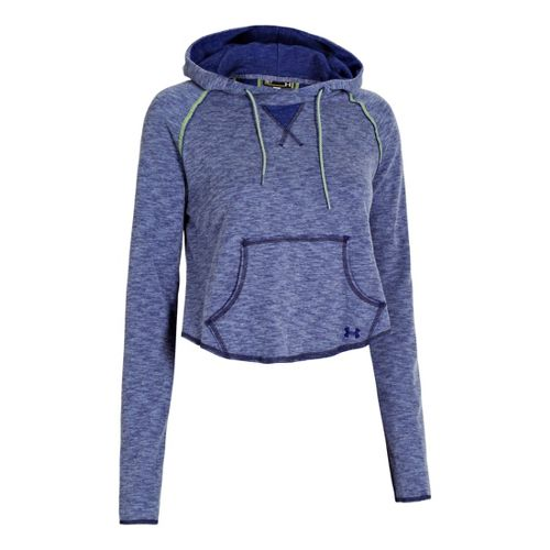 Womens Under Armour UA Rollick Warm-Up Hooded Jackets - Caspian S