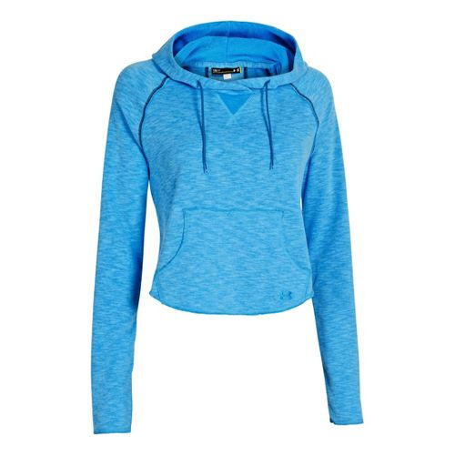 Womens Under Armour UA Rollick Warm-Up Hooded Jackets - Electric Blue M