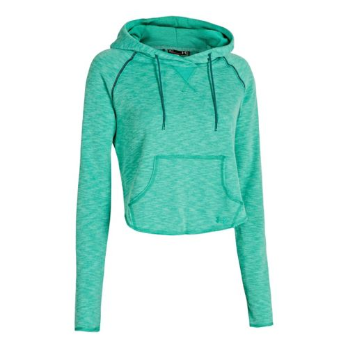 Womens Under Armour UA Rollick Warm-Up Hooded Jackets - Emerald Lake XS