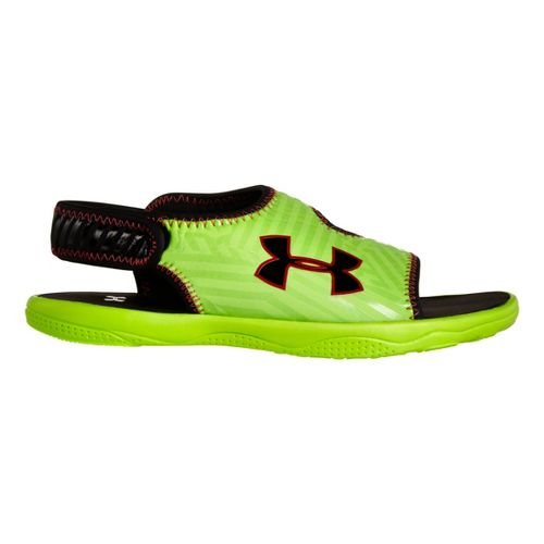Kids Under Armour Boys Flash SL Sandals Shoe - Hyper Green 12