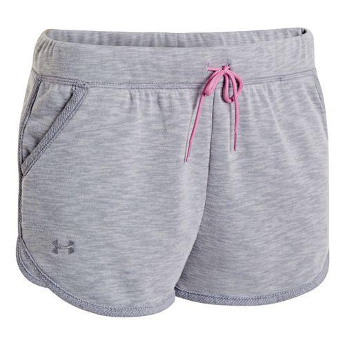 Womens Under Armour UA Rollick Shorty Unlined Shorts - True Grey Heather XL