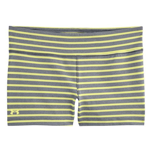 Womens Under Armour UA Ultimate Shorty Unlined Shorts - True Grey Heather/X-Ray XS