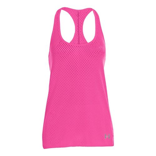 Womens Under Armour UA Bolo Tanks Technical Tops - Chaos/White L