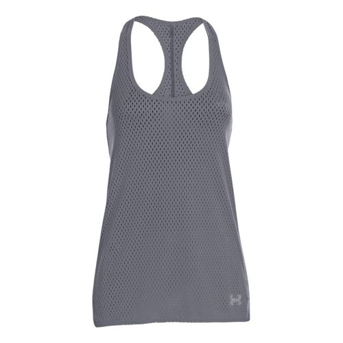 Womens Under Armour UA Bolo Tanks Technical Tops - Lead/X-Ray XS