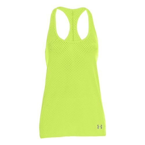 Womens Under Armour UA Bolo Tanks Technical Tops - X-Ray/White L