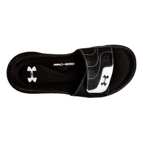 Kids Under Armour Girls Ignite VI SL Sandals Shoe - Black 12