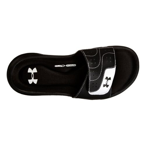 Kids Under Armour Girls Ignite VI SL Sandals Shoe - Black 5
