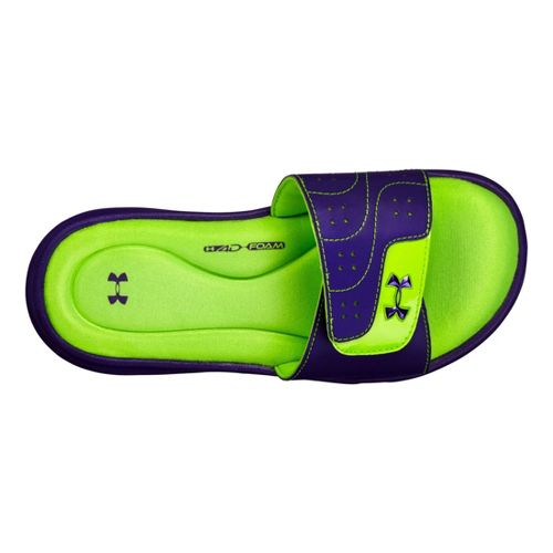 Kids Under Armour Girls Ignite VI SL Sandals Shoe - Pride 12
