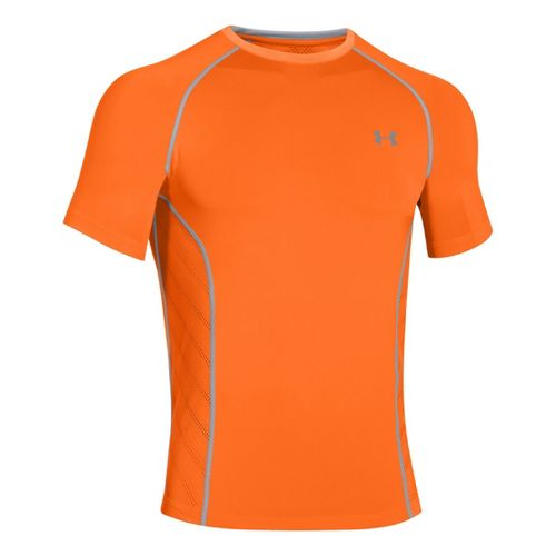 Mens Under Armour HeatGear Sonic Armourvent Short Sleeve Technical Tops - Blaze Orange M