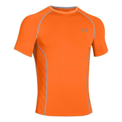 Mens Under Armour HeatGear Sonic Armourvent Short Sleeve Technical Tops - Blaze Orange S