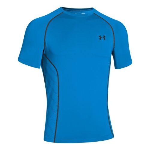 Mens Under Armour HeatGear Sonic Armourvent Short Sleeve Technical Tops - Electric Blue L