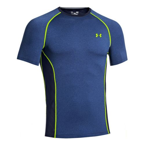 Mens Under Armour HeatGear Sonic Armourvent Short Sleeve Technical Tops - Heather Jean L