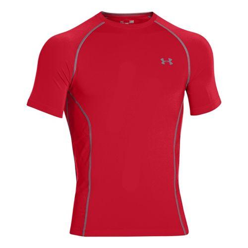 Mens Under Armour HeatGear Sonic Armourvent Short Sleeve Technical Tops - Red XXL