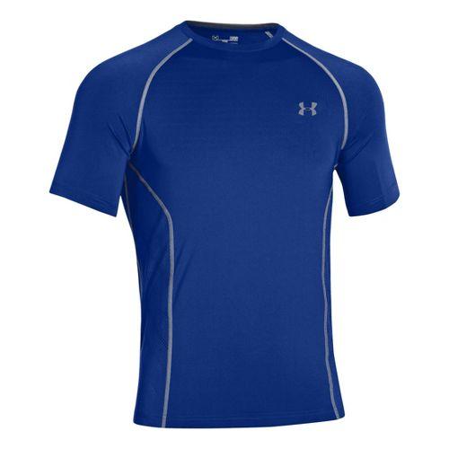Mens Under Armour HeatGear Sonic Armourvent Short Sleeve Technical Tops - Royal L