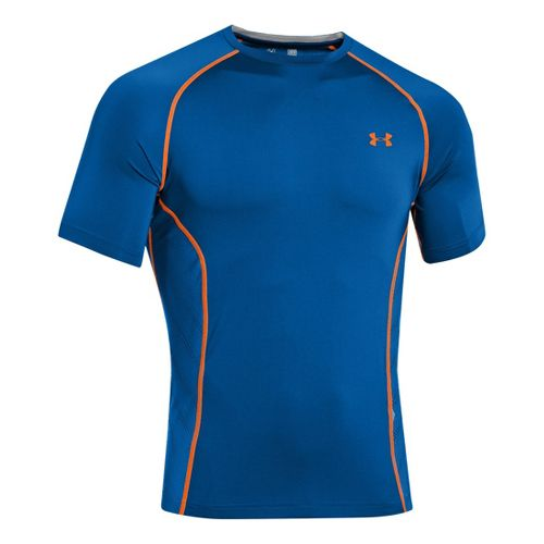 Mens Under Armour HeatGear Sonic Armourvent Short Sleeve Technical Tops - Superior Blue XXL