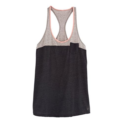 Womens Under Armour UA Charged Cotton Legacy Tanks Technical Tops - Black/Brilliance M
