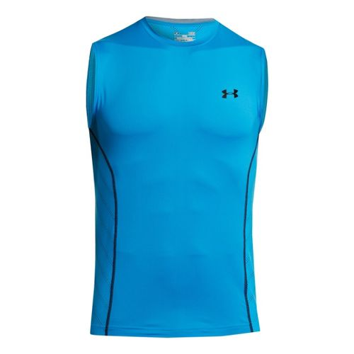 Mens Under Armour HeatGear Sonic Armourvent Sleeveless Technical Tops - Electric Blue XL