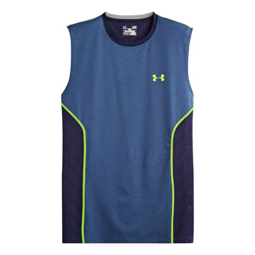 Mens Under Armour HeatGear Sonic Armourvent Sleeveless Technical Tops - Heather Jean S