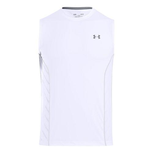 Mens Under Armour HeatGear Sonic Armourvent Sleeveless Technical Tops - White S