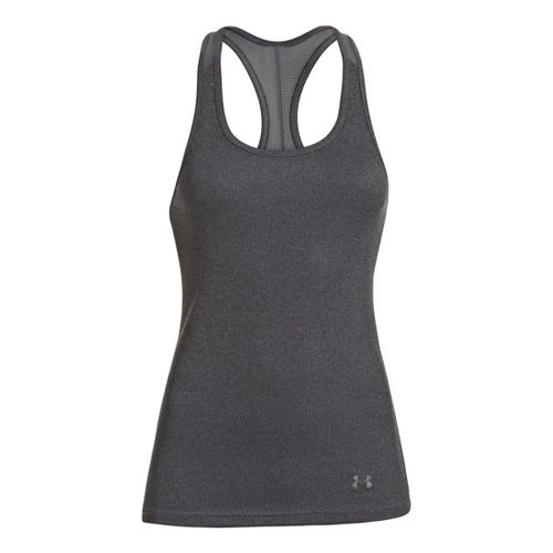 Womens Under Armour UA Victory Tank Technical Tops - Carbon Heather S