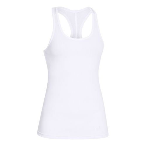 Womens Under Armour UA Victory Tank Technical Tops - White XS