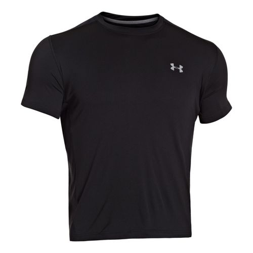 Mens Under Armour Armourvent T Short Sleeve Technical Tops - Black/Graphite L