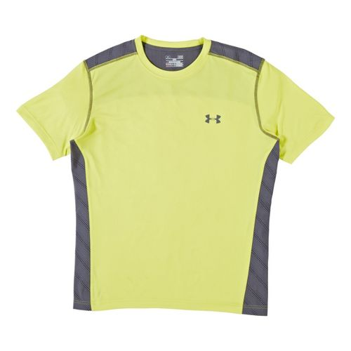 Mens Under Armour Armourvent T Short Sleeve Technical Tops - Flash Light XL