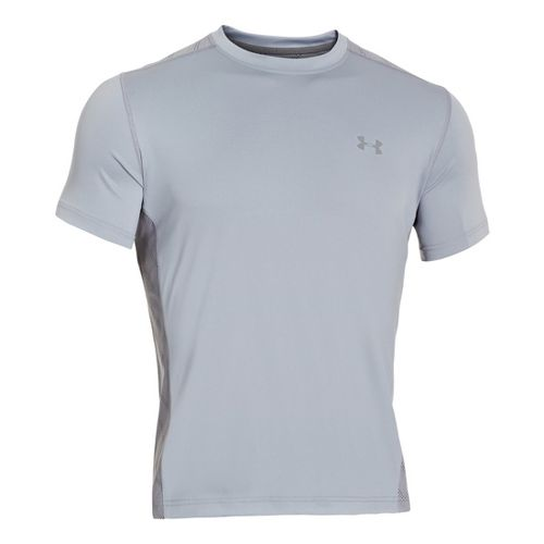 Mens Under Armour Armourvent T Short Sleeve Technical Tops - Graphite/Steel L