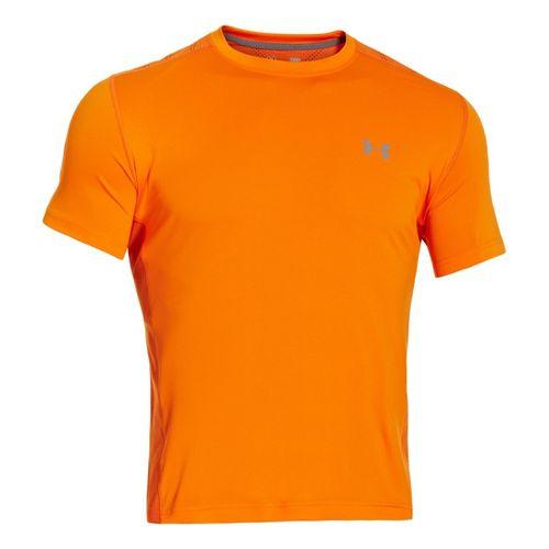 Mens Under Armour Armourvent T Short Sleeve Technical Tops - Orange S