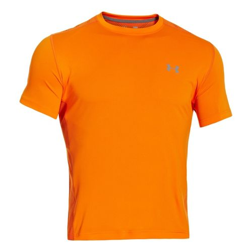 Mens Under Armour Armourvent T Short Sleeve Technical Tops - Orange XL