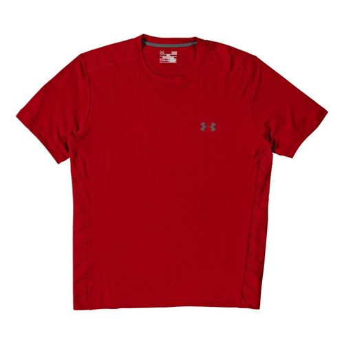 Mens Under Armour Armourvent T Short Sleeve Technical Tops - Red L