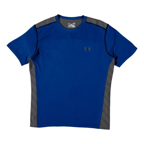 Mens Under Armour Armourvent T Short Sleeve Technical Tops - Superior Blue L