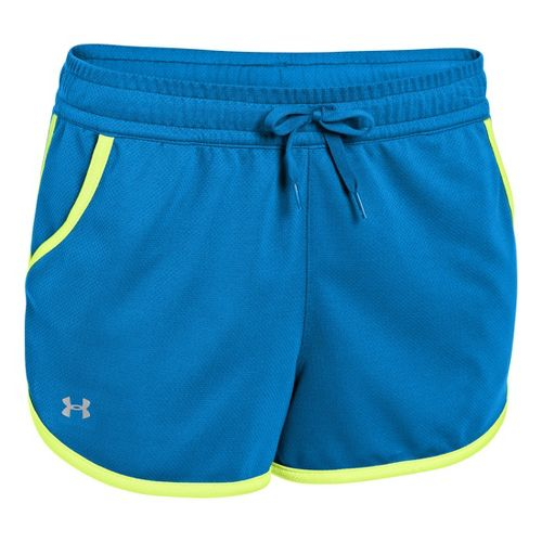 Womens Under Armour UA Rally Shorts - Electric Blue/X-Ray XL
