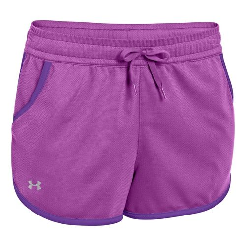 Womens Under Armour UA Rally Shorts - Exotic Bloom/Pride XS