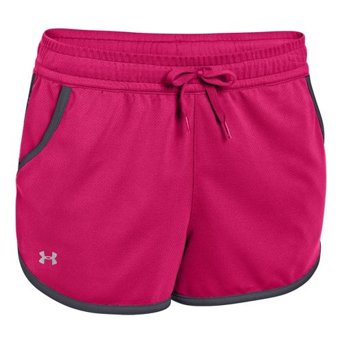 Womens Under Armour UA Rally Shorts - Exuberant Pink/Lead L