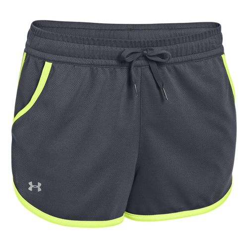 Womens Under Armour UA Rally Shorts - Lead/X-Ray XS