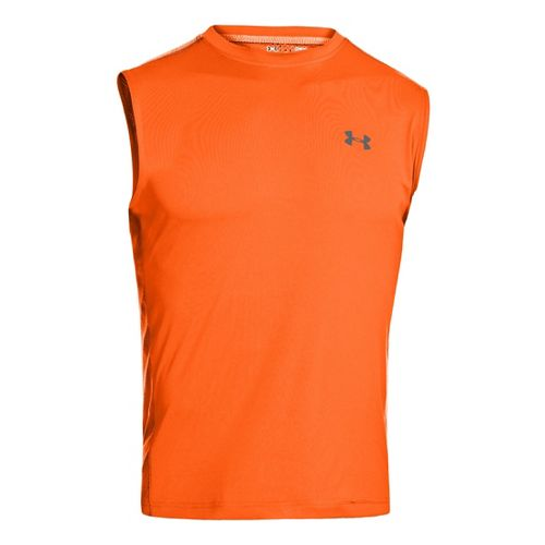 Mens Under Armour Armourvent T Sleeveless Technical Tops - Orange M