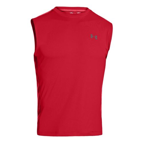 Mens Under Armour Armourvent T Sleeveless Technical Tops - Red XXL