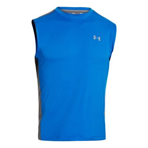 Mens Under Armour Armourvent T Sleeveless Technical Tops - Superior Blue M